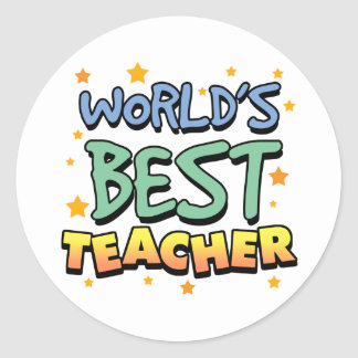 World's Best Teacher Stickers