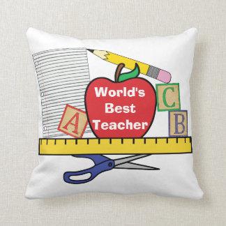 World's Best Teacher /  Teacher Life Pillow