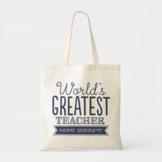 World's Best Teacher Tote Bag Gift