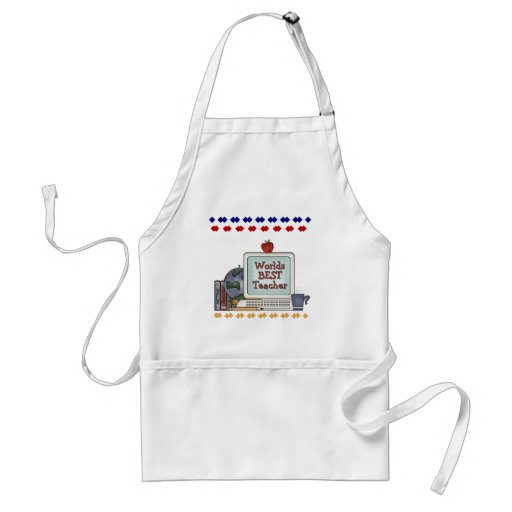 Worlds Best Teacher Tshirts and Gifts Apron