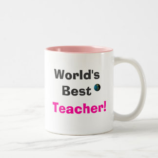 World's Best Teacher Two-Tone Coffee Mug