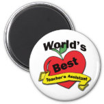 World's Best Teacher's Assistant 6 Cm Round Magnet