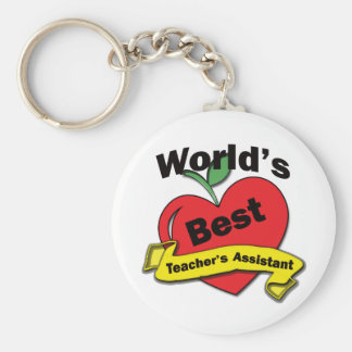 World's Best Teacher's Assistant Basic Round Button Key Ring