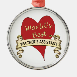 World's Best Teacher's Assistant Christmas Ornament
