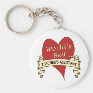 World's Best Teacher's Assistant Key Ring