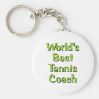 World's Best Tennis Coach gifts Key Ring