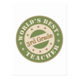 Worlds Best Third Grade Teacher Postcard