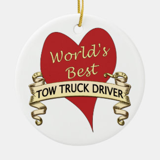 World's Best Tow Truck Driver Christmas Ornament