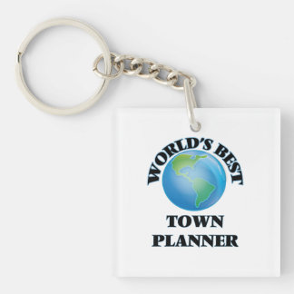 World's Best Town Planner Square Acrylic Key Chain