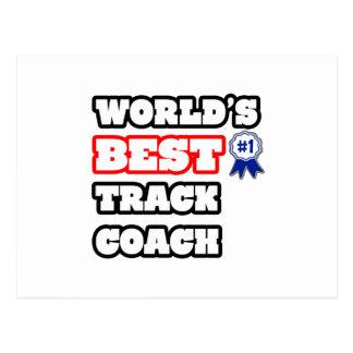World's Best Track Coach Postcard