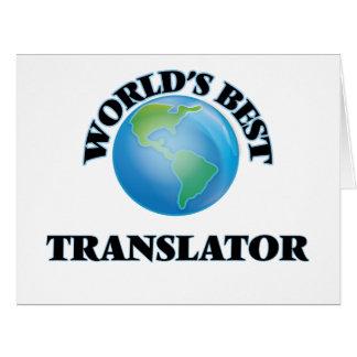 World's Best Translator Greeting Card