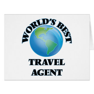 World's Best Travel Agent Greeting Card