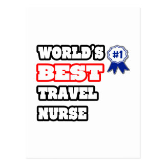 World's Best Travel Nurse Postcard