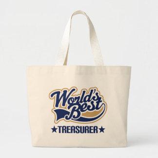 Worlds Best Treasurer Jumbo Tote Bag