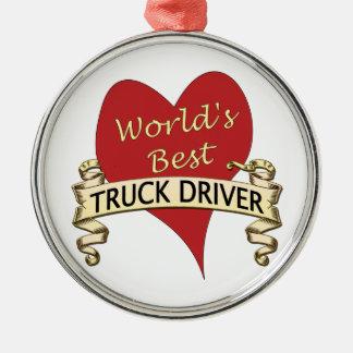 World's Best Truck Driver Christmas Ornament