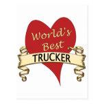 World's Best Trucker Postcard