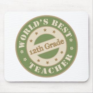 Worlds Best Twelfth Grade Teacher Mouse Pad