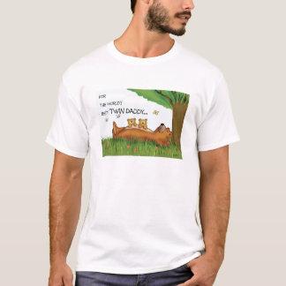 Worlds Best Twin Daddy T shirt