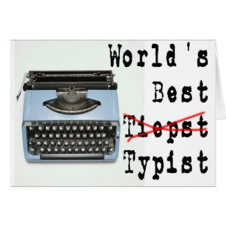 World's Best Typist Card