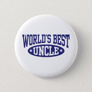 World's Best Uncle 6 Cm Round Badge