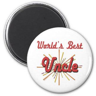 World's Best Uncle 6 Cm Round Magnet