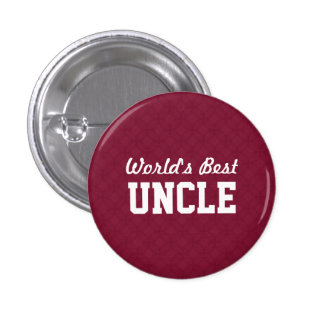 World's Best UNCLE Appreciation Gift A04 3 Cm Round Badge