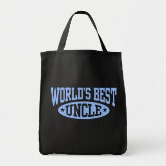 World's Best Uncle Canvas Bags