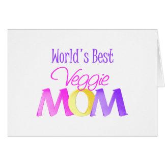 World's Best Veggie Mom Card