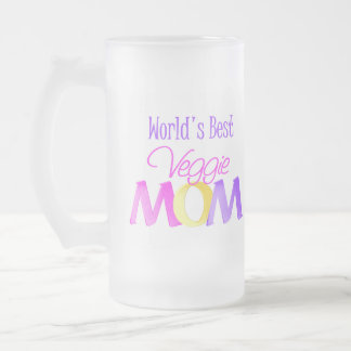 World's Best Veggie Mom Frosted Mug/Cup