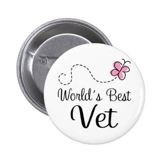World's Best Vet Veterinarian 6 Cm Round Badge