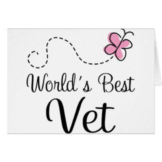 World's Best Vet Veterinarian Card