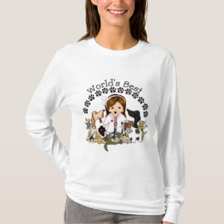 World's Best Veterinarian - Female Brown Hair T-Shirt