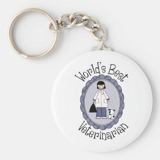 World's Best Veterinarian - Female Key Chain