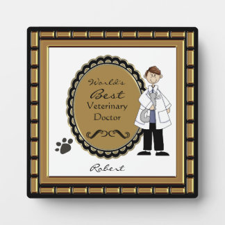 World's Best Veterinarian Male Plaque