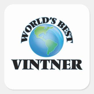World's Best Vintner Square Sticker