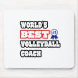 World's Best Volleyball Coach Mouse Mats