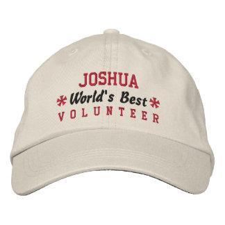 World's Best VOLUNTEER Custom Name V09 Baseball Cap