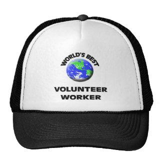 World's Best Volunteer Worker Trucker Hats