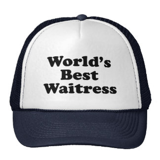 World's Best Waitress Cap