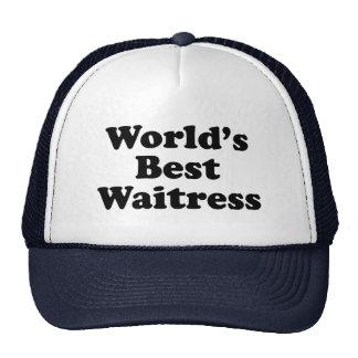 World's Best Waitress Cap