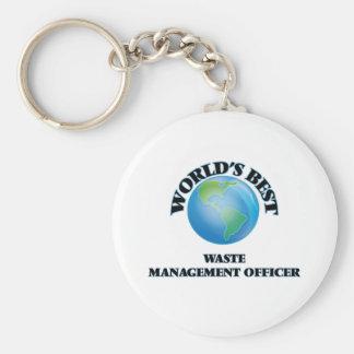 World's Best Waste Management Officer Key Chains