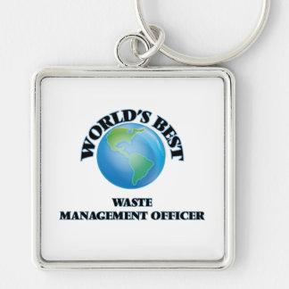 World's Best Waste Management Officer Keychains