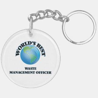World's Best Waste Management Officer Keychain