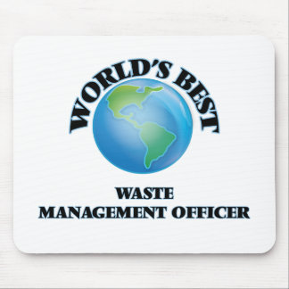 World's Best Waste Management Officer Mouse Pad