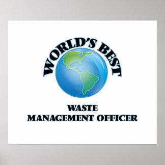World's Best Waste Management Officer Poster