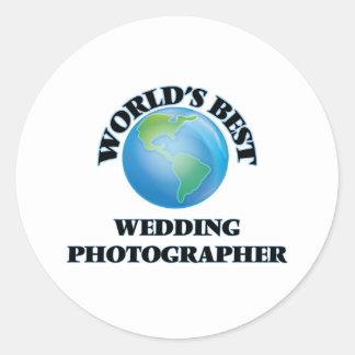 World's Best Wedding Photographer Round Stickers