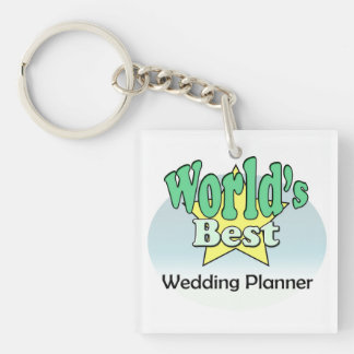 World's best Wedding Planner Single-Sided Square Acrylic Key Ring