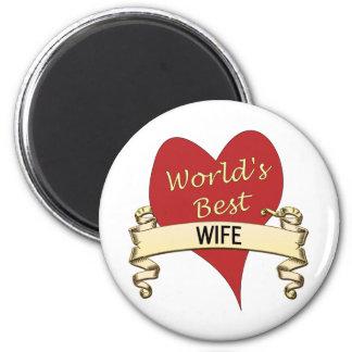 World's Best Wife 6 Cm Round Magnet