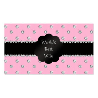 World's best wife pink diamonds business cards
