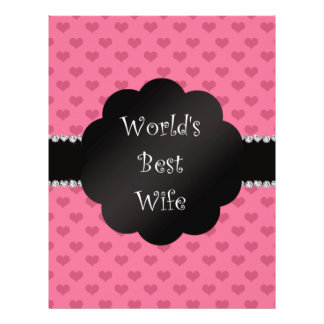 World's best wife pink hearts flyer